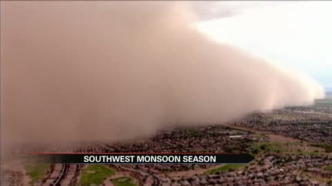 Monsoon season in southwest